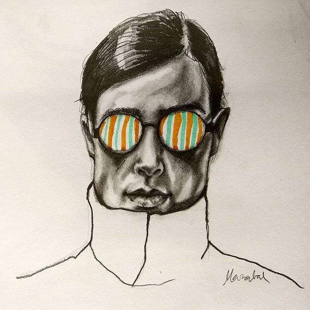 Hypnotic Drawing by Marzabal