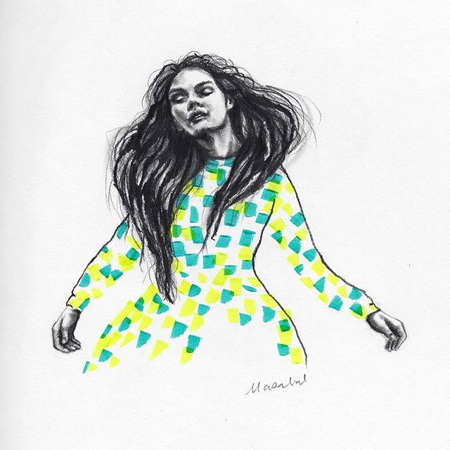 Dancing Drawing by Marzabal
