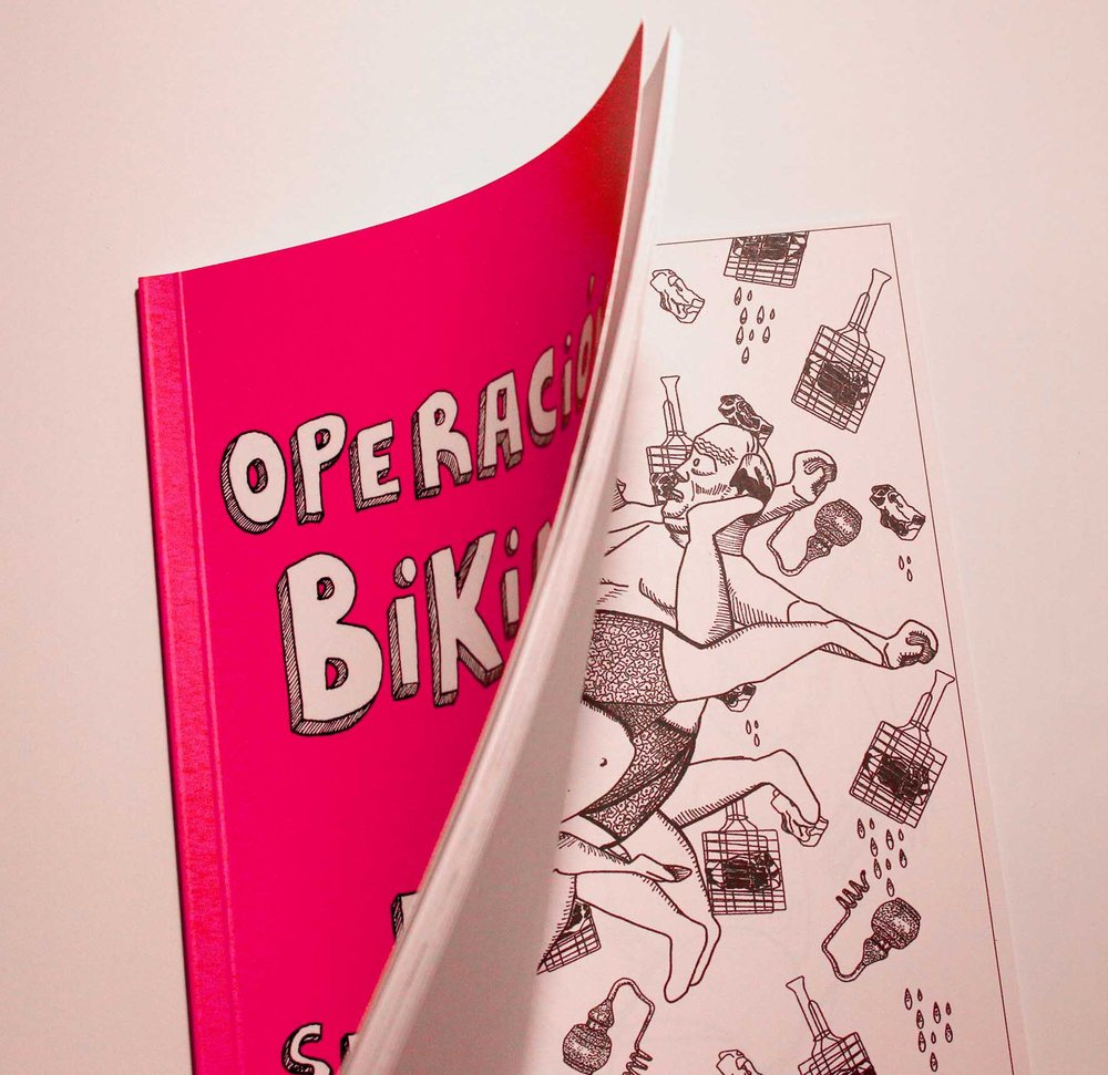 "Fanzine ""Operación Bikini"" with Cerdas Collective 2016"