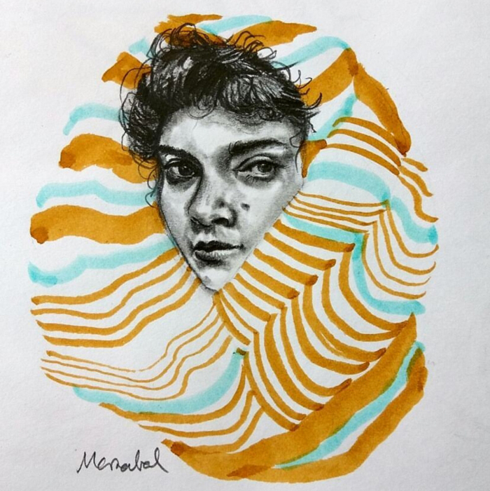 scarf Drawing by Marzabal