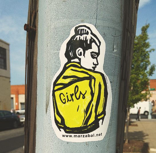 """Girls"" is a sticker action, about gender equality"