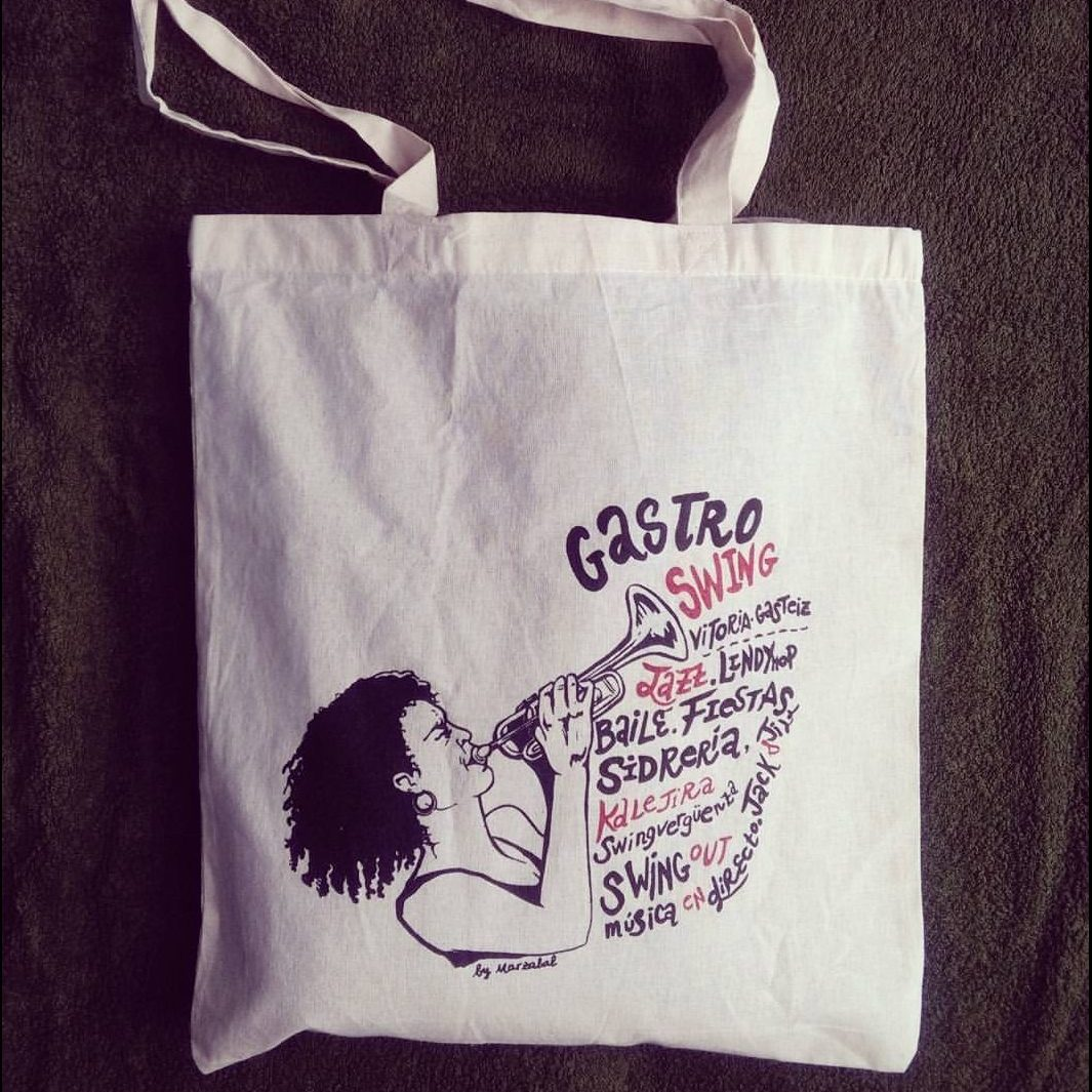 Tote Bag design for 2016 Gastroswing Vitoria-Gasteiz