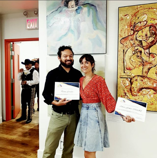 Exhibition in Casa Julia de Burgos NY, 5th september 2018