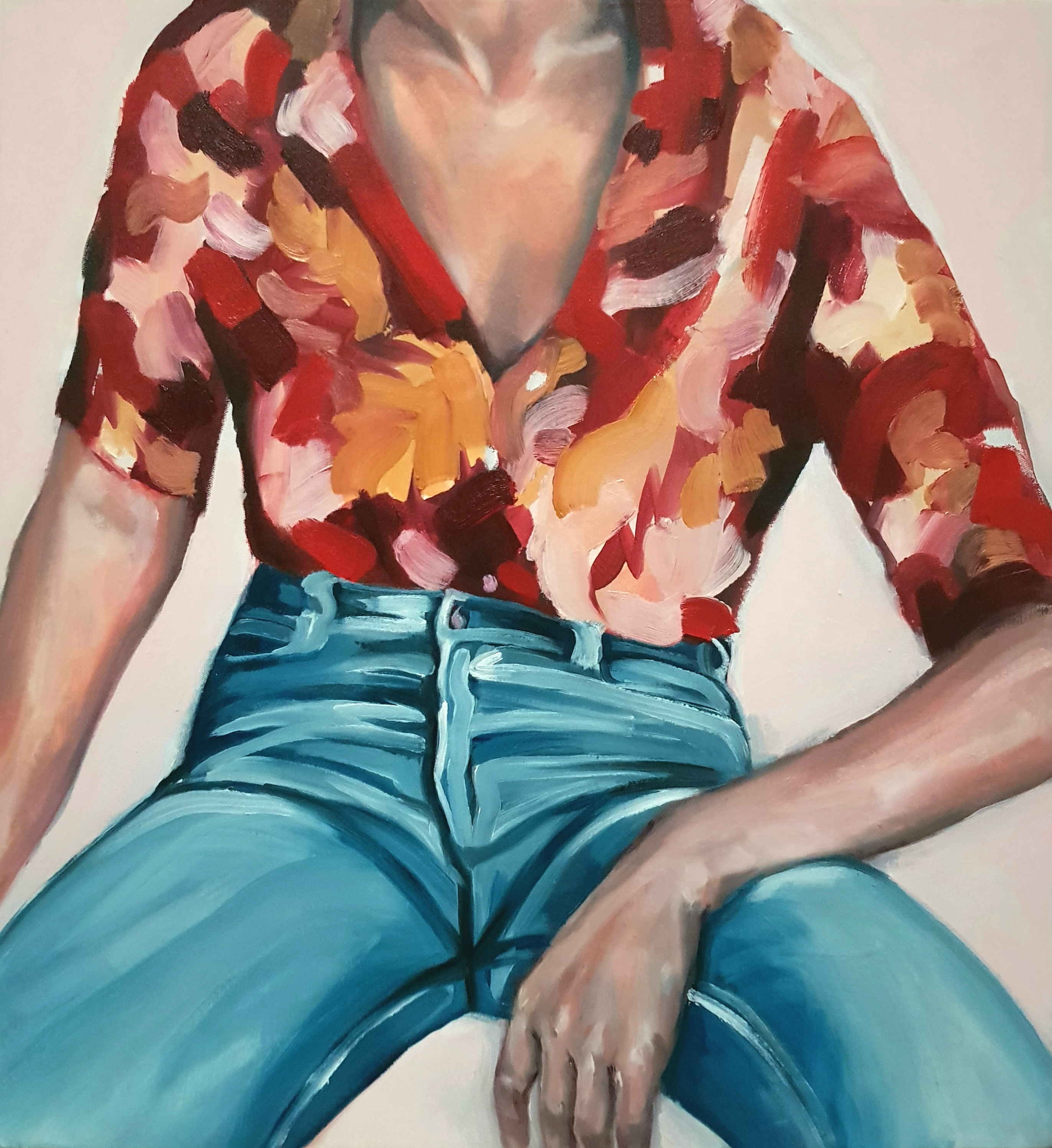 "What Does It Mean To Be A Woman, oil on canvas, 23x25"", 2018"