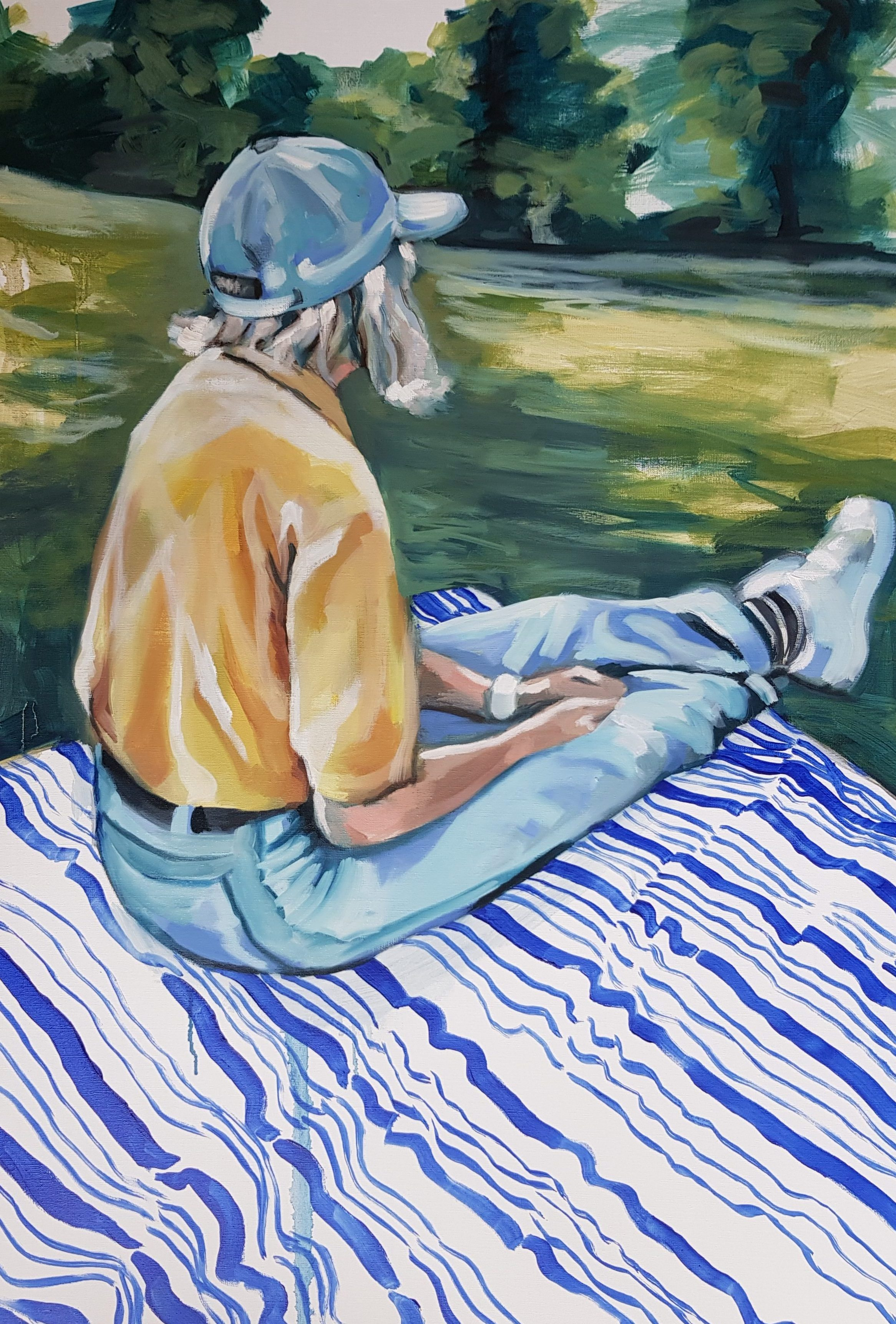 A Day in the Park, oil painting over canvas, 24x36, 2018
