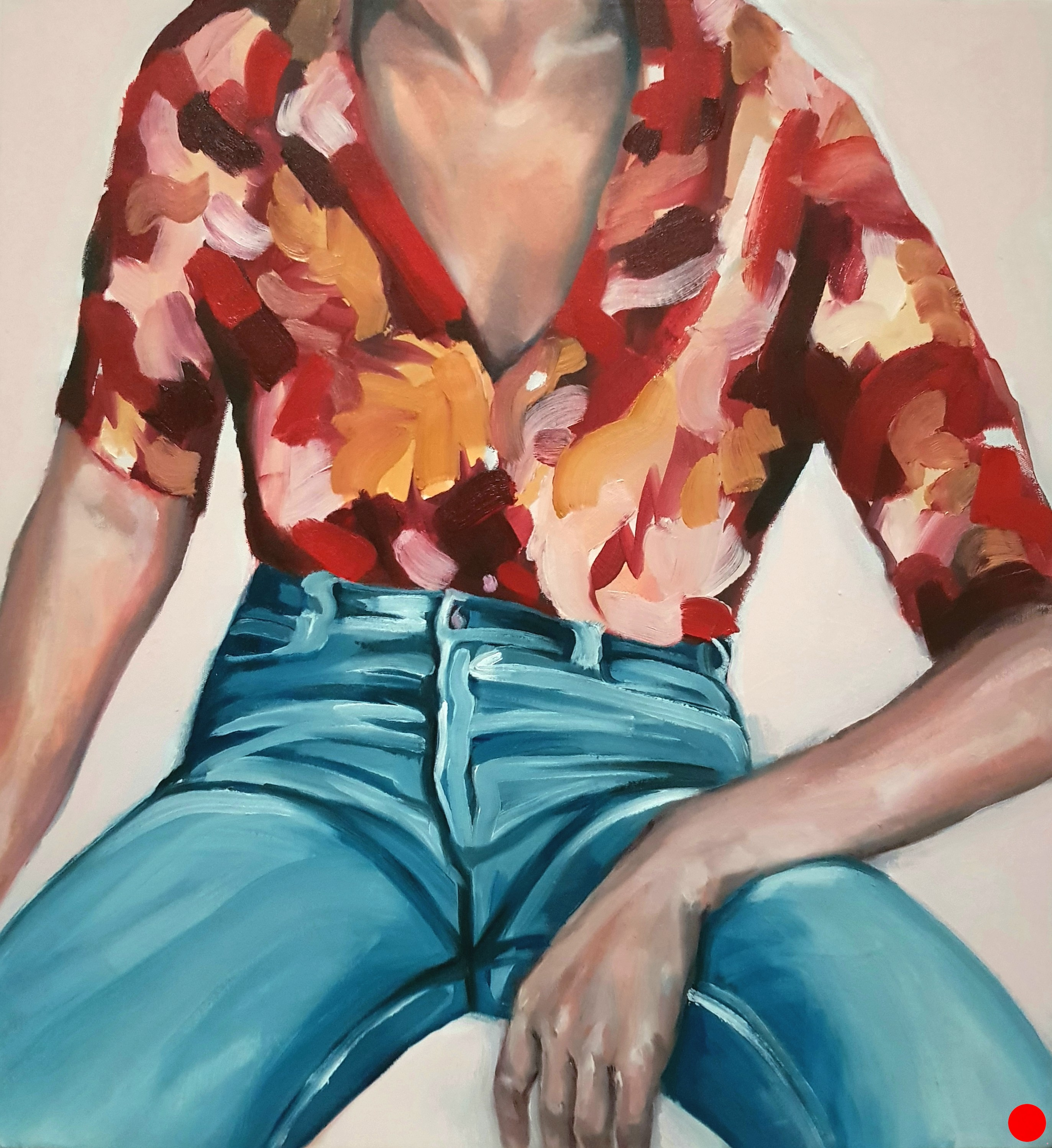 WOMAN SPREADING, OIL ON CANVAS, 23×25″, 2018, SOLD