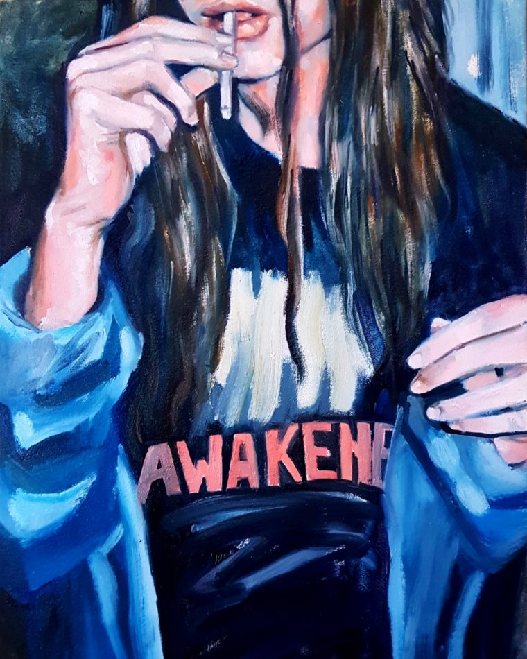 Awakeness, 17 x 22´, oil painting over canvas, 2019