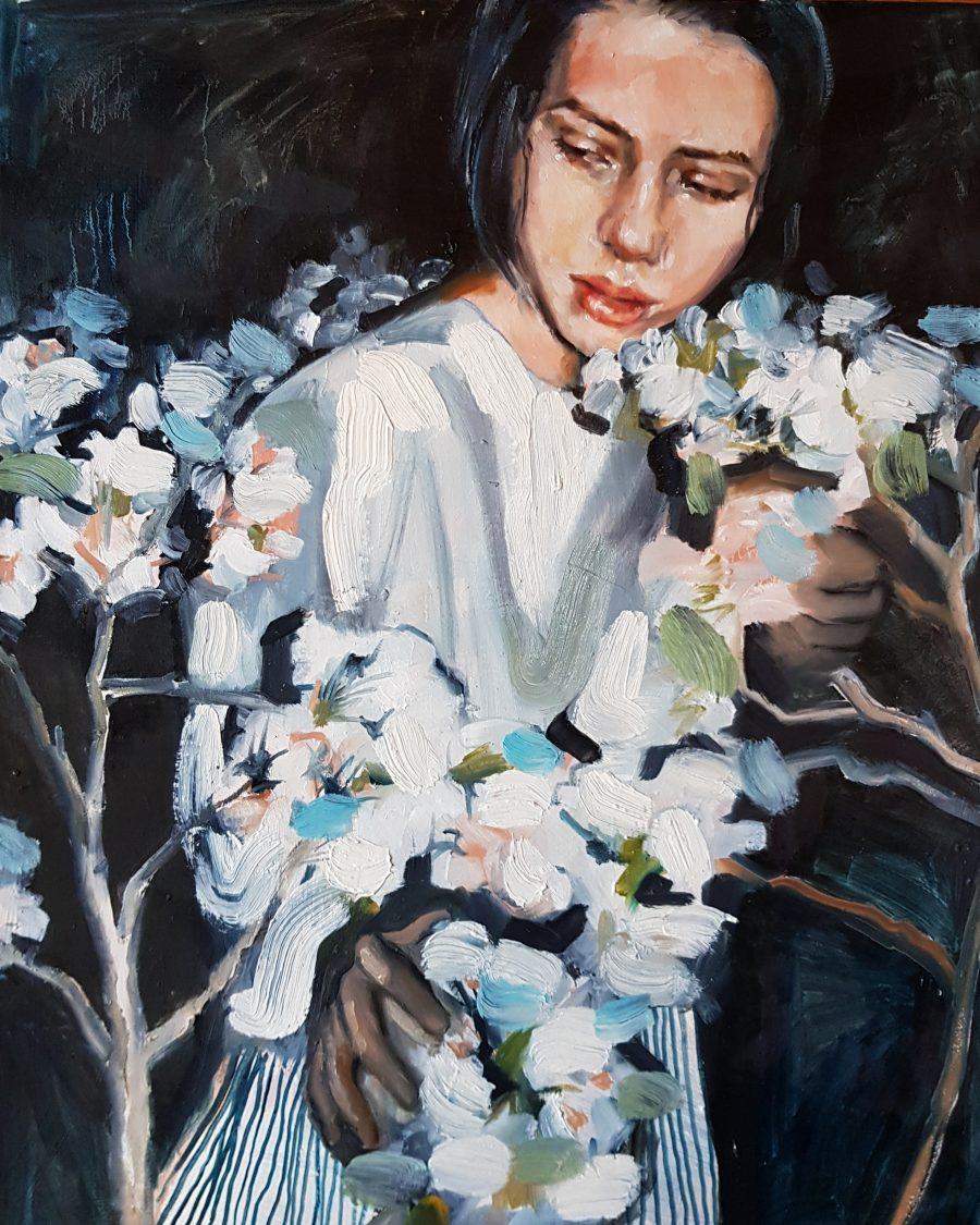 "The Flowers of your Garden, oil painting, 22x28"", 2019"