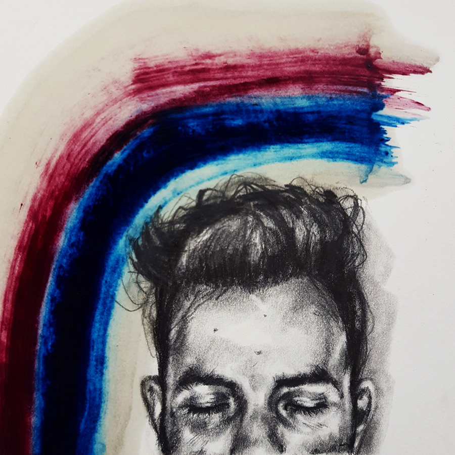 rainbow head Drawing by Marzabal