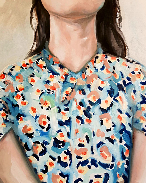Flower Shirt, oil over canvas, 16x20in, 2019