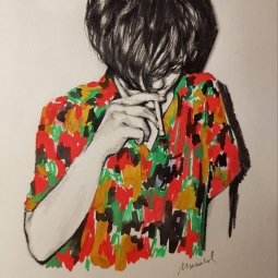 Hawaian Shirt Drawing by Marzabal-SOLD
